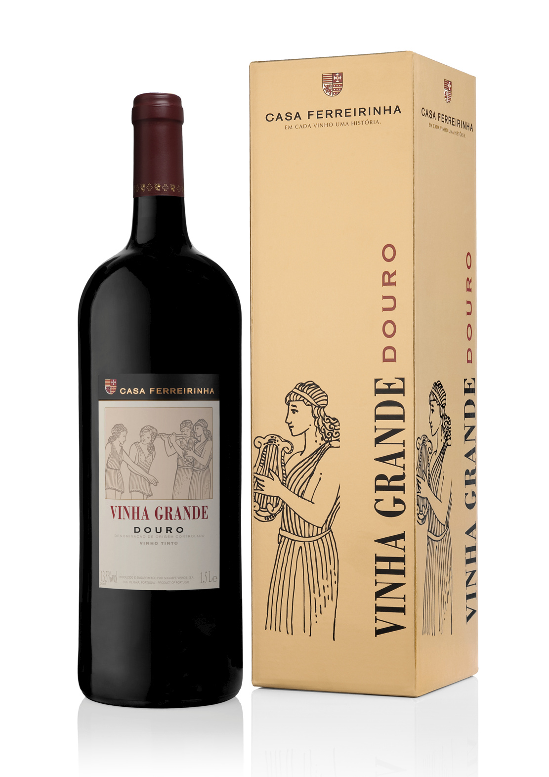 Casa Ferreirinha Vinha Grande Magnum Red 2010_with Gift Box_Packshot