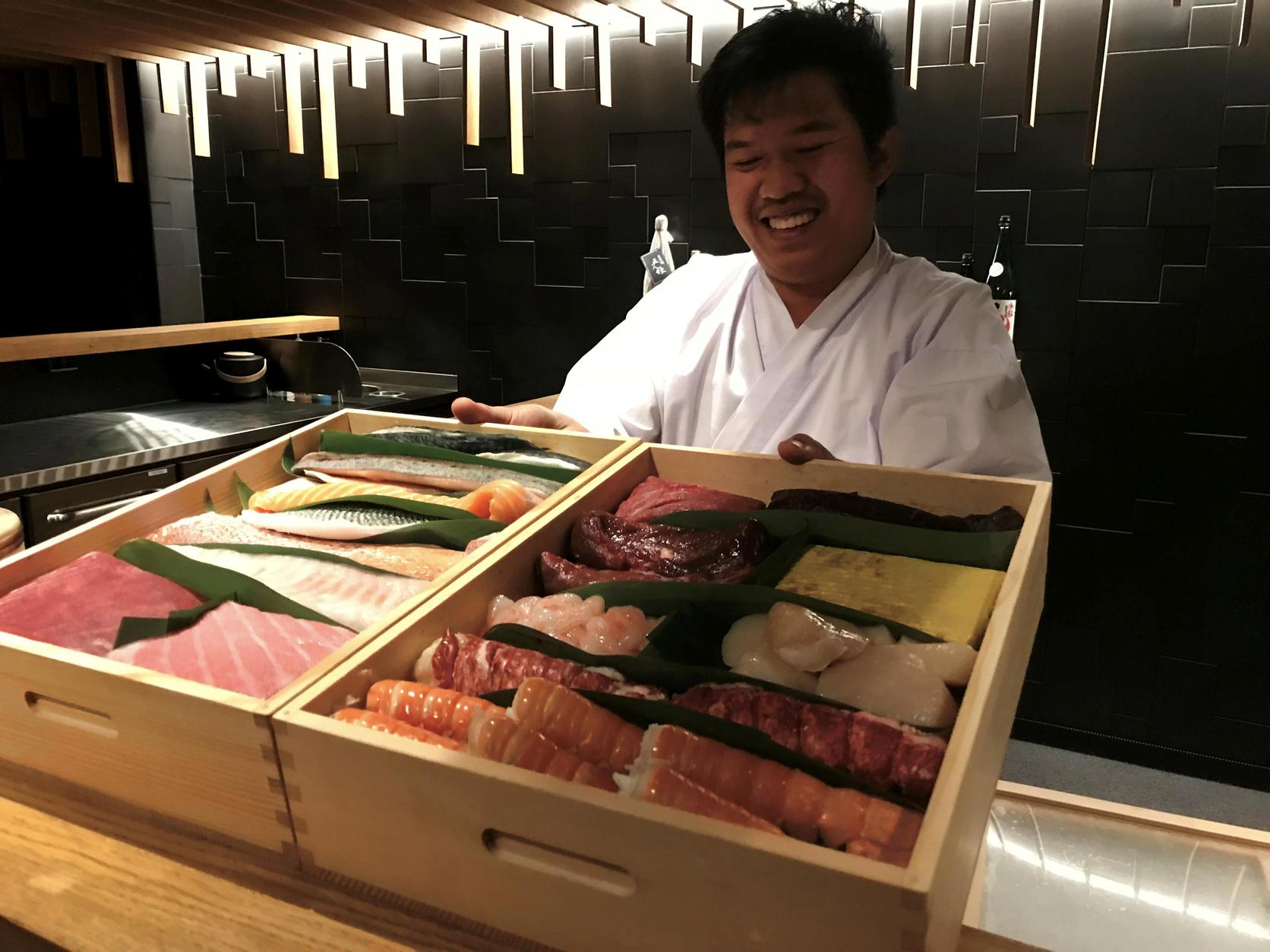 Sushi og Champagne er toppmatch på Omakase