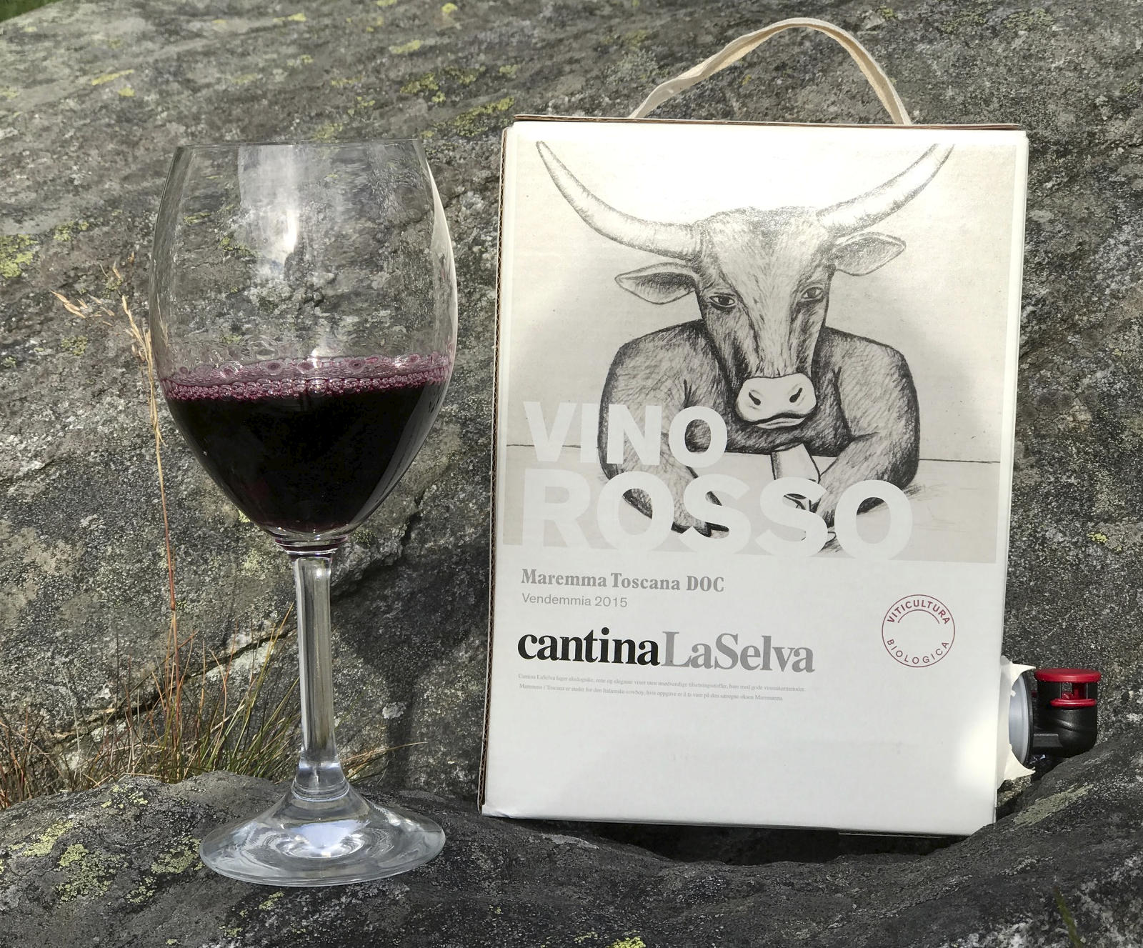 Økologisk Toscana-vin i boks